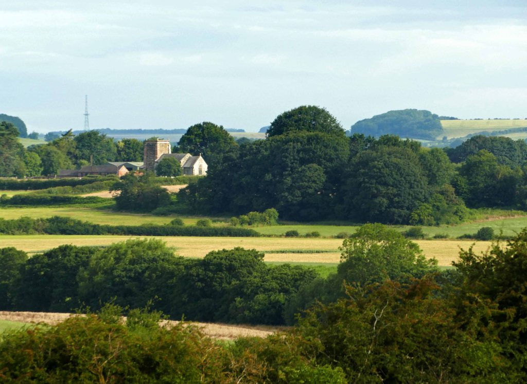 Ashby church from above Little Dale.